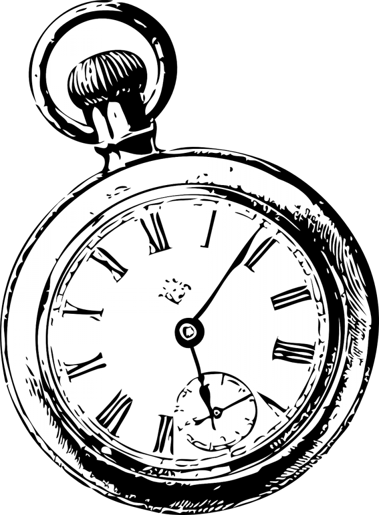 A pocket watch is shown.