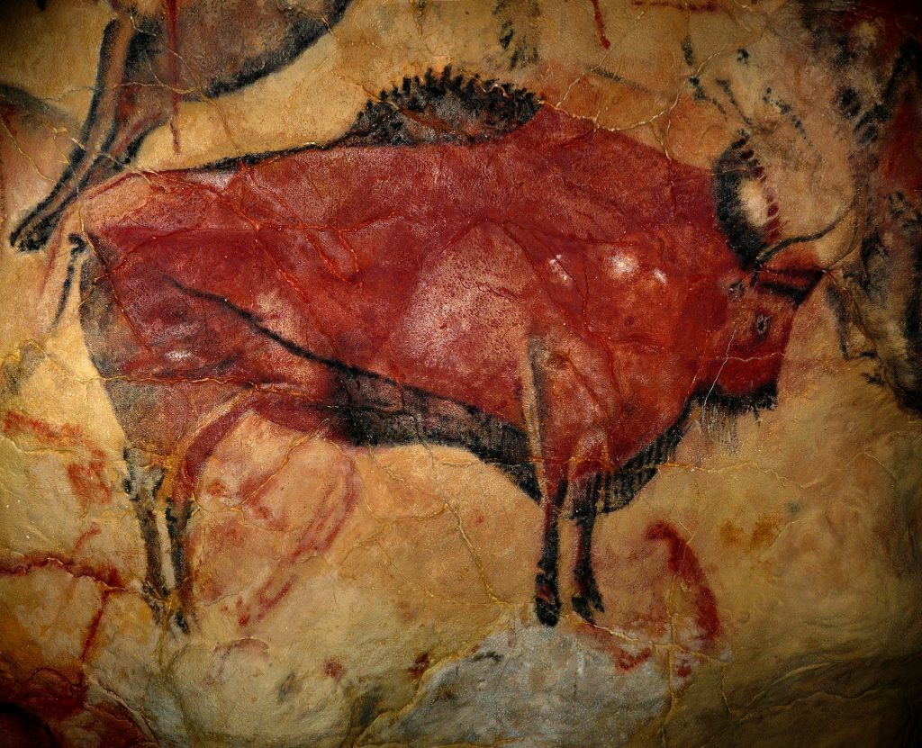 Cave Art on a Prehistoric Wall